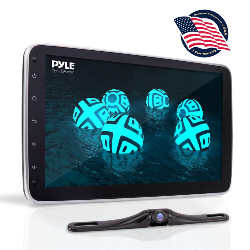 """Pyle PL2DN105 10.1"""" Touch Screen In-Dash Double DIN Player with Back up Camera"""