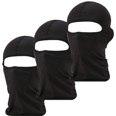 3 Pack Men Balaclava Black Face Mask Lightweight Motorcycle