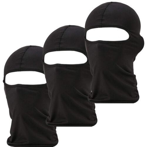 3 Pack Men Balaclava Black Face Mask Lightweight Motorcycle Warmer Ski