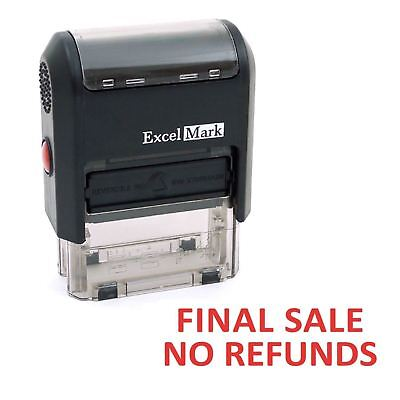 Final Sale No Refunds - Excelmark Self Inking Rubber Stamp A1539 - Red Ink