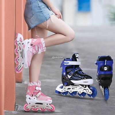 Best Playing Gift! Adjustable Kids Roller Blades Inline Skates Children