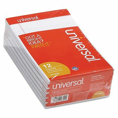 Universal Perforated Edge Writing Pad Narrow Rule 5 X 8 White 50-sheet 12pk
