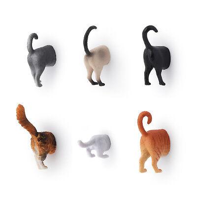 Kühlschrankmagnete Katzenhintern Magnete Katzen Hintern Magnetpins im 6er Set