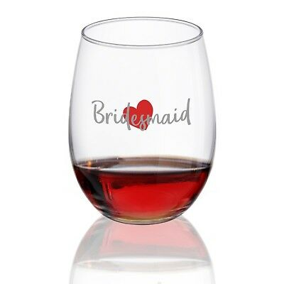 Bridesmaid Wine Glass | Stemless Wine Glasses for Wedding Party, Bachelorette... (Bachelorette Wine Glass)