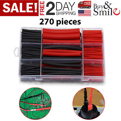 Heat Shrink Tubing Tube 31 Ratio Dual Wall Adhesive Lined Red Black Cable Wire