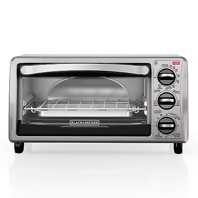 Tag NEW BLACK+DECKER TO1313SBD 4-Slice Toaster Oven, Black