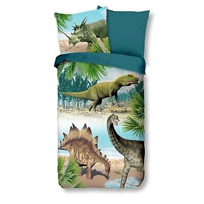 sche 6602 Dino Bunt Dinosaurier T-Rex Stegosaurus 135x200 cm (T Rex Dinosaurier Für Kinder)