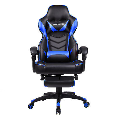Office Gaming Chair Racing Seats Computer High Back Executive Footrest Rocker Us