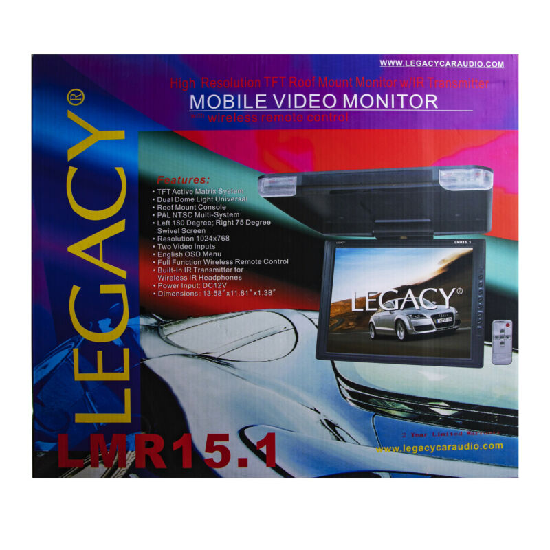 Legacy Hi-Res Roof Mount 15 Inch Monitor
