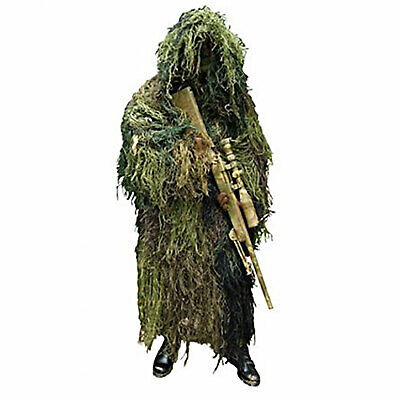 (Fidragon Ghillie Suit Woodland Green Camouflage Ultra Light Camo X-Large)