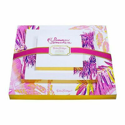 Lilly Pulitzer Off The Grid Set Of 3 Its Summer Somewhere Stationery Notepads