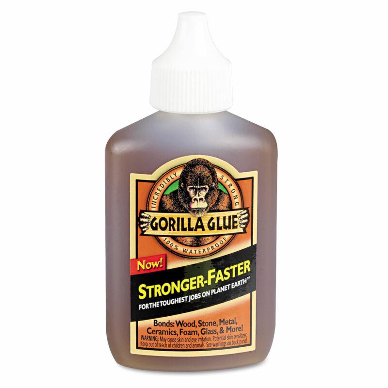 Gorilla Original Multi-Purpose Waterproof Glue 2 oz Bottle Light Brown 5000206