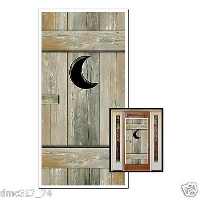 Western Cowboy Party Decoration Photo Prop Bathroom Restroom OUTHOUSE DOOR COVER