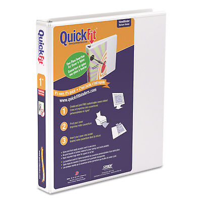 Stride Quickfit D-ring View Binder 1 Capacity 8 12 X 11 White 87010