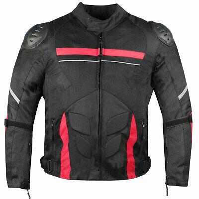 AirTrek Men Mesh Motorcycle Touring Waterproof Rain Armor Biker Jacket Red Armored Mesh Motorcycle Jackets