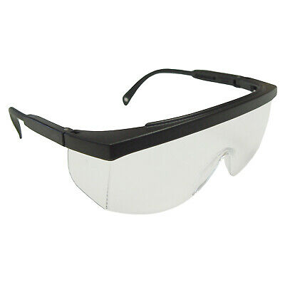 Radians Galaxy Black Clear Fit Over Most Safety Glasses Side Shield Telescoping