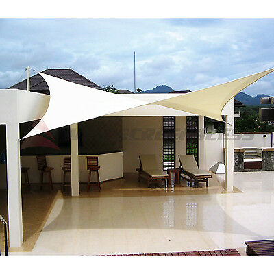 - 12' 16' 18' Rectangle Square Triangle Sun Shade Sail Yard Patio Canopy Pool Top