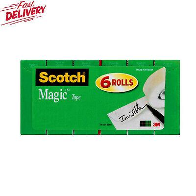 Scotch Magic Invisible Tape Refill 6 Pack 34 In X 800 In