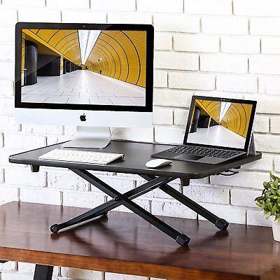 Fitueyes Height Adjustable Standing Desk Gas Spring Riser Desk Converter