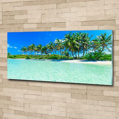 Glas-Bild Wandbilder Druck auf Glas 125x50 Deko Landschaften Tropischer Strand