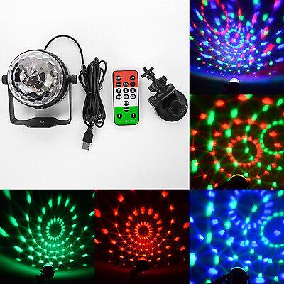 Tragbar Mini LED Discokugel Disco DJ Lichteffekt Party Club Bühnenbeleuchtung