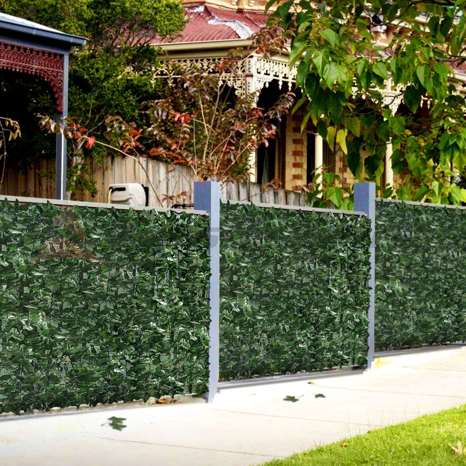 48 h 4 39 artificial faux ivy leaf privacy fencing screen for Outdoor privacy fence screen