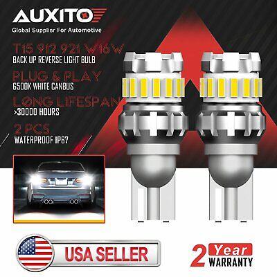2X AUXITO LED 921 912 W16W 904 906 916 Reverse Back Up Light Bulb 6500K Canbus
