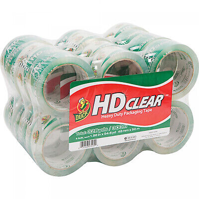 Duck Hd Clear Packaging Tape 1.88 In. X 54.6 Yd. Clear 24-count