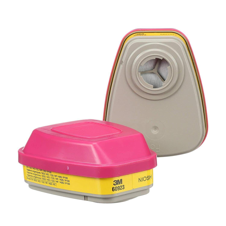 3M 60923 P1OO Organic Vapor/Acid Gas Replacement Respirator Cartridge, 1 Pair Business & Industrial