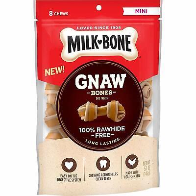 Milk-Bone Gnaw Bones Knotted Bones Rawhide-Free Chicken Mini 5.1 oz - Knot Mini Bone
