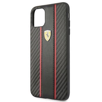 Ferrari Hard Case iPhone 11 Pro Max Carbon PU Black 360 degree (Ferrari Case)