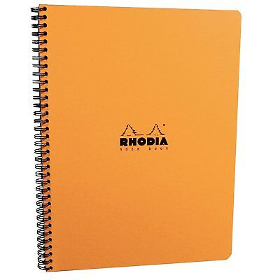 Rhodia Wirebound - Notebook - Orange - Graph - 9 X 11.75 - Microperforated Pages
