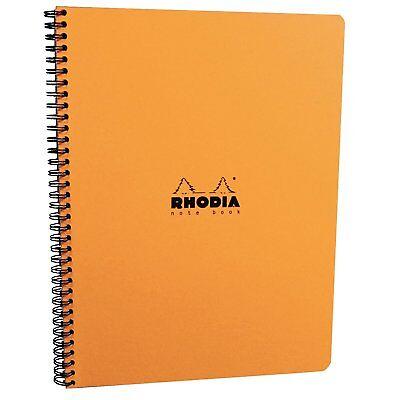 Rhodia Wirebound - Notebook - Orange - Graph - 9 X 11.75 - Microperforated Pages