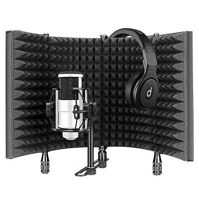 Aokeo Microphone Isolation Shield,Acoustic Foam Front,Sound Absorber Foam Panel