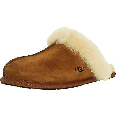 Women UGG Scuffette II Slipper 5661 Chestnut Suede 100% Authentic Brand New