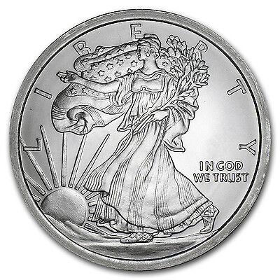 5 oz Silver Round - Walking Liberty - SKU #87489