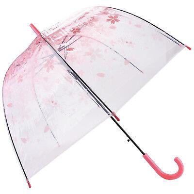 Clear Umbrella  Flower Bubble Dome Shape Long Rain Umbrella
