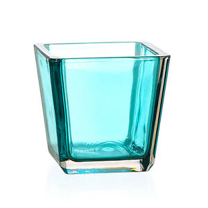 Square Glass Tea Light Holders