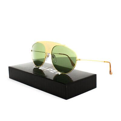 RETROSUPERFUTURE Super Leon Notorious Sunglasses 70T Gold / Green Barberini (Super Sunglasses Italy)