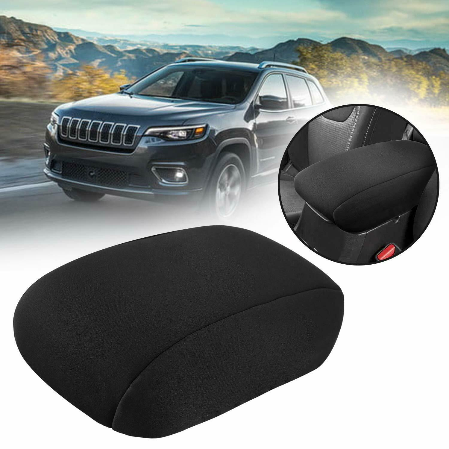JeCar Center Console Armrest Pad Cover Soft Arm Rest Protector Interior Accessories for Dodge Ram 2010-2020 Blcak