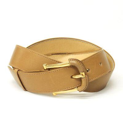 vintage 80's gucci men's belt camel brown size 90(36inch)