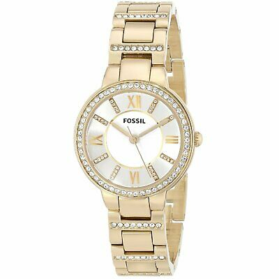 Fossil Women's Virginia ES3283 30mm Silver Dial Stainless Steel Watch