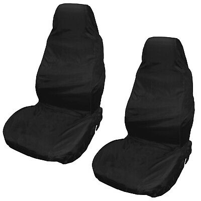 Best Heavy Duty Front Seat Covers Universal Car Van Black Waterproof Protectors