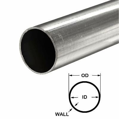 316 Stainless Steel Round Tube 2 Od X 0.065 Wall X 24 Long
