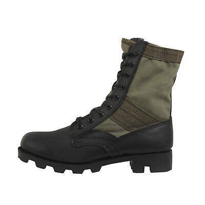 Jungle Boots Olive Drab Leather Military Rothco 5080 Jungle Boot Olive Drab