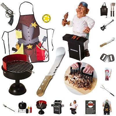 *Auswahl* Geschenke für Grill-Fans Mann Grillmeister Grillbesteck Schürze Männer