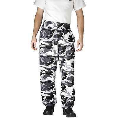New Chefwear Mens Ultimate 100 Cotton Baggy Chef Pants Camouflage Xs-5xl