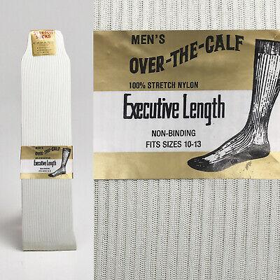 1950s Deadstock Ivory Socks Rib Knit VTG Sheer Dress Lightweight Over the Calf ()