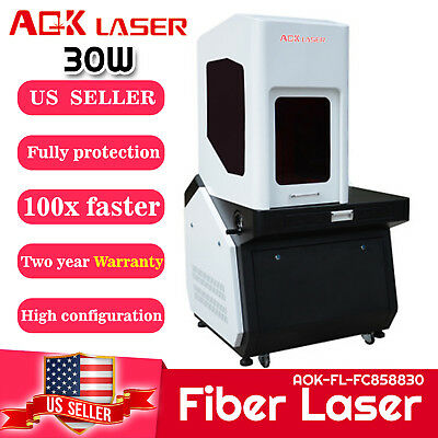 Aok Laser Fully Protection 30w Fiber Laser Engraver Marking Machine Engraving