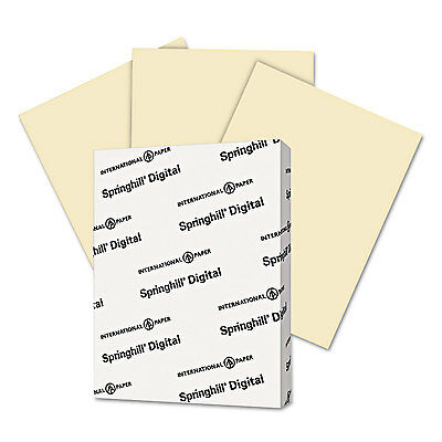 Colored Card Stock (Springhill Digital Index Color Card Stock 90 lb 8 1/2 x 11 Ivory 250)